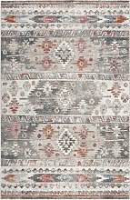 Tapis tissé plat motif kilim vintage