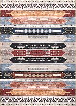 Tapis vintage lavable en machine multicolore