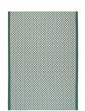 Tapis Zaro en coton coloris émeraude