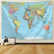 Tapisserie de carte du monde haute définition en