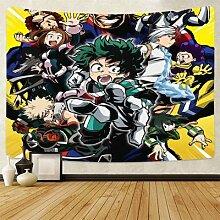 Tapisserie murale suspendue à thème My Hero