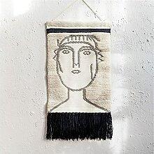 Tapisserie murale tissée en macramé, art mural