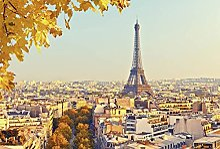Tapisserie poster panoramique AUTOMNE À PARIS 4 x