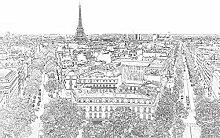 Tapisserie poster panoramique PARIS ETERNEL 4 x