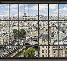 Tapisserie poster panoramique PARIS LA SEINE 4 x