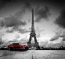 Tapisserie poster panoramique PARIS NOIR ET BLANC