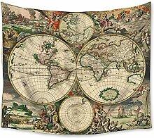 Tapisserie Vintage Ancienne Antique Ancienne Carte