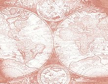 TARTINY Dessin au diamant,carte du monde rose