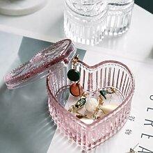 Tasse à bonbons en cristal en forme de cœur,