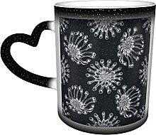 Tasse à café africain en céramique avec motif
