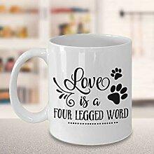 Tasse à café amoureux des animaux de compagnie,