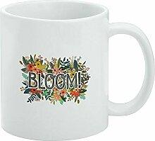 Tasse à café amusante, Bloom Pretty Flowers