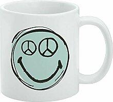 Tasse à café amusante, motif smiley et symbole