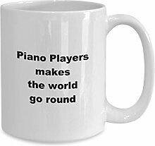 Tasse à café amusante pour le matin, Piano
