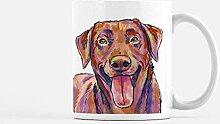 Tasse à café avec illustration de labrador