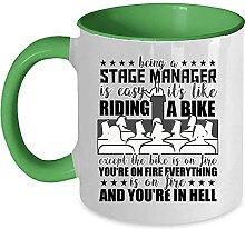 Tasse à café avec inscription « Be A Stage