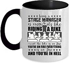 Tasse à café avec inscription « The Stage