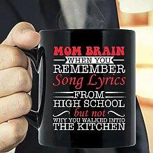 Tasse à café avec paroles de la chanson « Mom