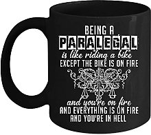 Tasse à café « Being A Paralegal is Like Riding