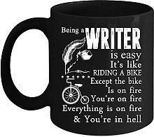 Tasse à café « Being A Writer is Easy » avec