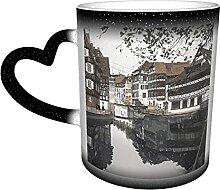Tasse à café changeante de couleur sensible à