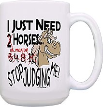 Tasse à café cheval J'ai juste besoin de
