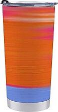 Tasse à café, coloré abstrait Néon Sunrise