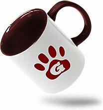 Tasse à café colorée marron G pattes pour