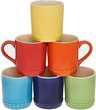 Tasse à café couleur poterie 300ml lot de 6