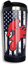 Tasse à café de drapeau américain de motocross