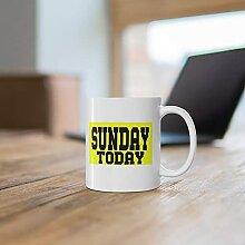Tasse à café dimanche aujourd'hui