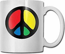 Tasse à café drôle signe de paix café tasse à