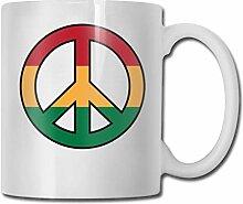 Tasse à café drôle symbole de la paix tasse à