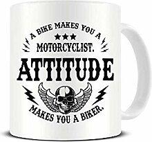 Tasse à café en céramique « A Bike Makes You A