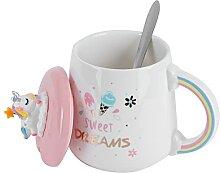 Tasse à Café en Céramique avec Couvercle et