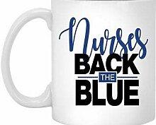 Tasse à café en céramique bleue Nurses Back The