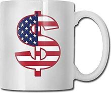 Tasse à café en céramique d'argent