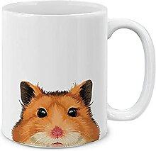 Tasse à café en céramique de hamster brun