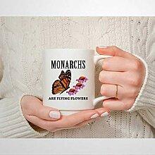 Tasse à café en céramique Monarch are Flying
