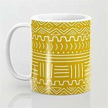 Tasse à café en tissu de moutarde avec