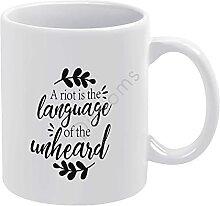 Tasse à café fantaisie « A Riot is The Langue