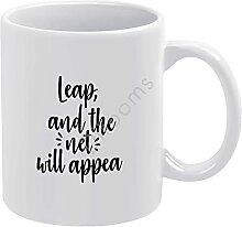 Tasse à café fantaisie en céramique Leap, and