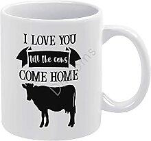 Tasse à café fantaisie « I Love You Till The