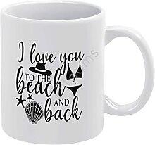 Tasse à café fantaisie « I Love You to The