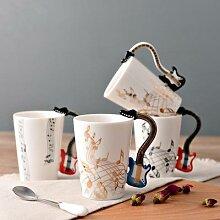 Tasse à café guitare en céramique, tasse à