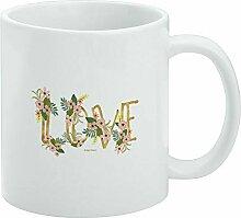 Tasse à café humoristique avec inscription Love