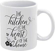Tasse à café humoristique en céramique blanche