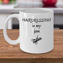Tasse à café humoristique « Hairdressing is My