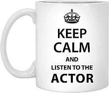 Tasse à café humoristique pour acteurs Keep Calm