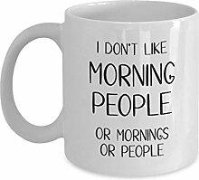 Tasse à café introvertie drôle je n'aime